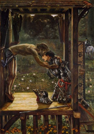 Burne-Jones, Sir Edward Coley: The Merciful Knight. Fine Art Print/Poster (4357)